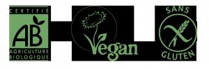 logo AB vegan sans gluten jus détox