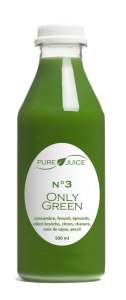 bouteille only green jus détox pure juice